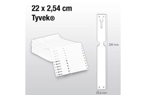 LOOP LOCK PLANT LABELS TYVEK 22x2,54cm WHITE SET/250pcs